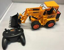 REMOTE CONTROL JCB STYLE EXCAVATOR BULLDOZERS MONSTER TRUCK TOY