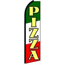 PIZZA Half Curve PREMIUM WIDE Swooper Flag