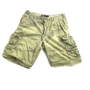 A&F Abercrombie & Fitch Mens 36 Vintage Military Camo Cargo Shorts Drawstring