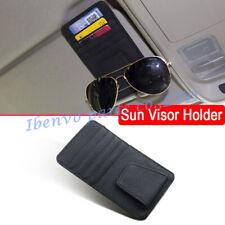 Black PU Leather Car Sun Visor Sealing Catch Card Glasses Case Storage Holder