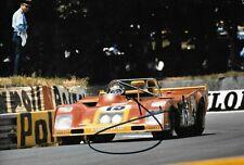 Jacky Ickx  SIGNED 12x8 ,  SEFAC Ferrari 312PB , Le Mans 24hrs 1973