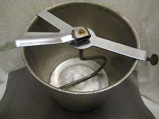 Vintage Aluminum Hand Crank Dough Mixer Bucket