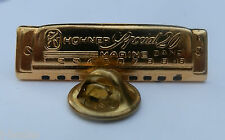 "Rare insolite 1980 S-émis Harmonica pin badge ""HOHNER Special 20 Marine Band"""