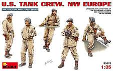 MiniArt 1/35 35070 WWII US Army Tank Crew (NW Europe) (5 Figures in Box)