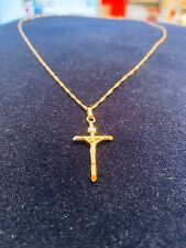 Gold Cross Pendant 14K