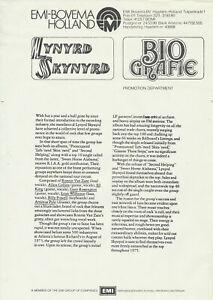 Lynyrd Skynyrd - 1975 [Holland] - Press Kit