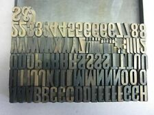 Letterpress Wood Type 72 Point Capitol Letters & Numerals