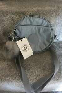 Kipling Avaros  Steel Grey Metallic Crossbody Bag ~ New ~ FREE P&P