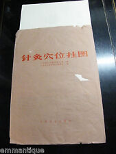 TROIS ANCIENNES AFFICHES ECORCHE CURIOSITE MEDICAL CHINE ACUPONCTURE CHINOISE