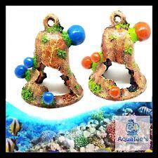 ARMADA AQUARIUM FISH TANK DECORATION BELL 14.5CM BLUE ORNAMENT AQUA FRESH WATER