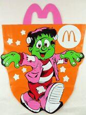 Halloween Trick Or Treat Bag '90 Mcdonalds Frankenstien Monster Vtg Happy Meal
