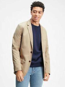 Gap Men's Twill Khaki Blazer Size Large NWT Beige 100% Cotton Sports Coat Jacket