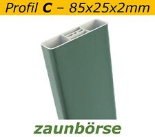 "Musterstück - Zaunlatte C (85x25x2mm) ""moosgrün"" Profiware Gartenzaun Staketen"