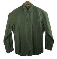 Tommy Bahama Men's L Long Sleeve Shirt Button Down Green Silk Blend