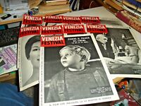 Venice Festival 1959 Batch Of 9 Numbers Of Magazine Of Festival Of Cinema