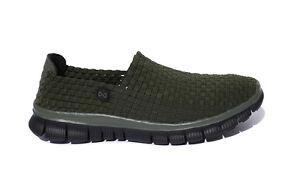 Navitas Green Lite Weave Slip On Bivvy Slipper Weaves Shoes *All Sizes*