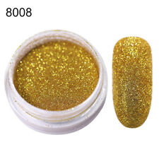 1G Holographic Glitter Powder Dust Nail Art Black Holo Laser Shining DIY Tips