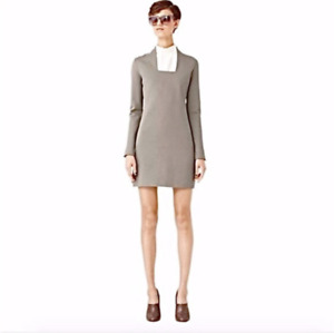 Kate Spade Saturday S Dress Squared Neck Stone 251 Jersey Long Sleeve New NWT