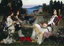 "J. W. WATERHOUSE - Saint Cecilia 1895 - *FRAMED* CANVAS ART - 24x16"""