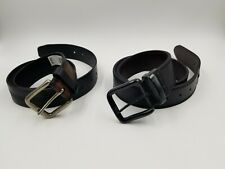 Levi's Lot of 2 Men's S 30-32 Leather Belts Black Good Condition