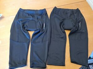 2 X Ladies Muddy Fox padded cycling shorts - size 14/16 - VGC