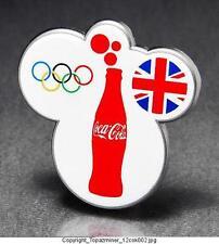 OLYMPIC PINS 2012 LONDON ENGLAND UK COKE COCA COLA UNION JACK FLAG RINGS