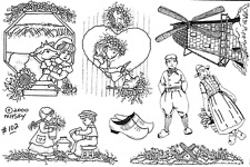 Unmounted Rubber Stamps Sheets, German, Dutch, Windmill, Netherlands, Children