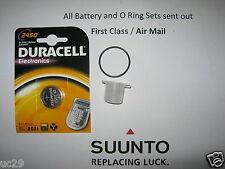 Batterie Duracell & O Ring Kit SUUNTO COBRA vytec vyper GEKKO avec de la graisse gratuit!
