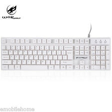 Warwolf K1 USB Wired Optical Keyboard with Backlight