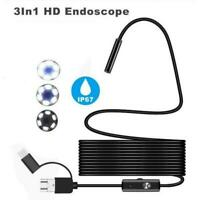 7 mm Endoscope Camera Flexible Waterproof Inspection Borescope For Phone PC