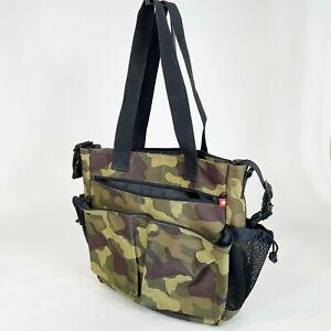 Skip Hop Spark Camo Camouflage Diaper Bag Tote Zip Slip Bottle Pockets