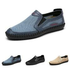 Mens Driving Moccasins Shoes Pumps Slip on Loafers Mesh Breathable Sports Chic L