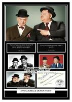 (#102) stan laurel & oliver hardy signed a4 photograph (reprint) great gift ####
