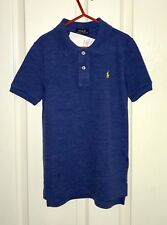 Ralph Lauren Boys Polo Top Short Sleeve Blue Age 6 New With Tags