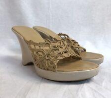 5db21ad1892e Bebe Beige Wedge Sandal Size 7-7 1 2 Women s