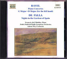 RAVEL 2 Piano Concerto FALLA Nights in the Garden of Spain THIOLLIER WIT CD