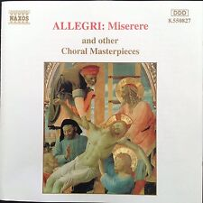ALLEGRI: MISERERE & Other Choral Masterpieces  1993 Naxos CD Oxford Camerata etc