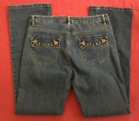 Bill Blass Bootcut Stretch Flap Pockets Blue Jeans Womens size 8