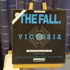 """The Fall – Victoria - 7"""" single Box Set BEG 206B Ex Ex Ex - c/w BADGE & Inserts"""