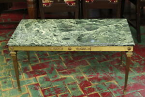 "Coffee Table/Bronze/ Level IN Marble Green Type "" Green Alps """