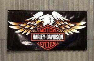 Large 1200 x 600m Harley Davidson Banner Sign, Shed, Man cave, Garage,