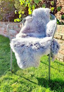 XXXL British Grey Sheepskin Rug - 125cm by 65cm A+ (4519)