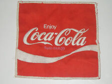 Vintage Enjoy Coca-Cola Trademark Logo Patch Embroidery  Coke Coca Cola Soda