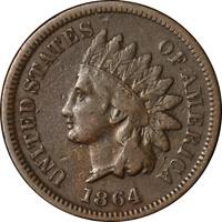 1864 'L' Indian Cent Nice F/VF Key Date Nice Eye Appeal Nice Strike