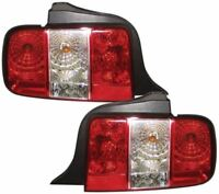 FORD MUSTANG 05-10 CRYSTAL RED CLEAR M3 STYLE REAR BACK TAIL LIGHTS