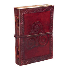 Fair Trade Handmade Triskelion Symbol Leather Journal Notebook 2nd Quality