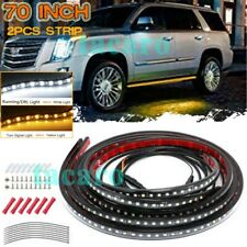"2x 70"" Running Board Step LED Light Strips Turning Signal Courtesy Truck Pickup"