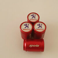 PEUGEOT SPORT Red METAL SPORTS Valve Dust caps all Cars 7 COLORS UK DISPATCH
