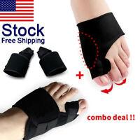 Pair Big Toe Bunion Splint Straightener Corrector Hallux Valgus Relief Foot Pain
