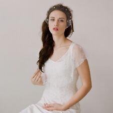 Elegant Bridal Veils Champagne Pearl Birdcage Wedding Veils High Quality Q